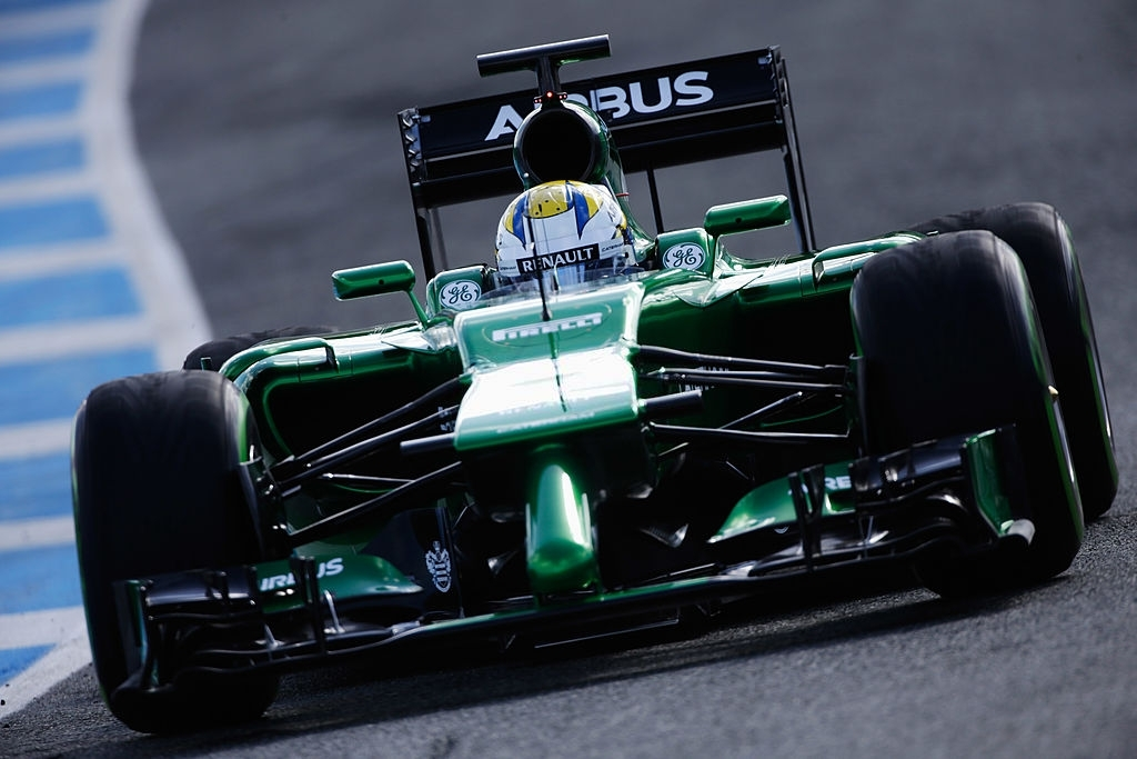Caterham F1 Team donned the color green in 2014.