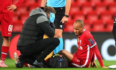 Fabinho out of LIverpool squad against Leicester City because of injury.