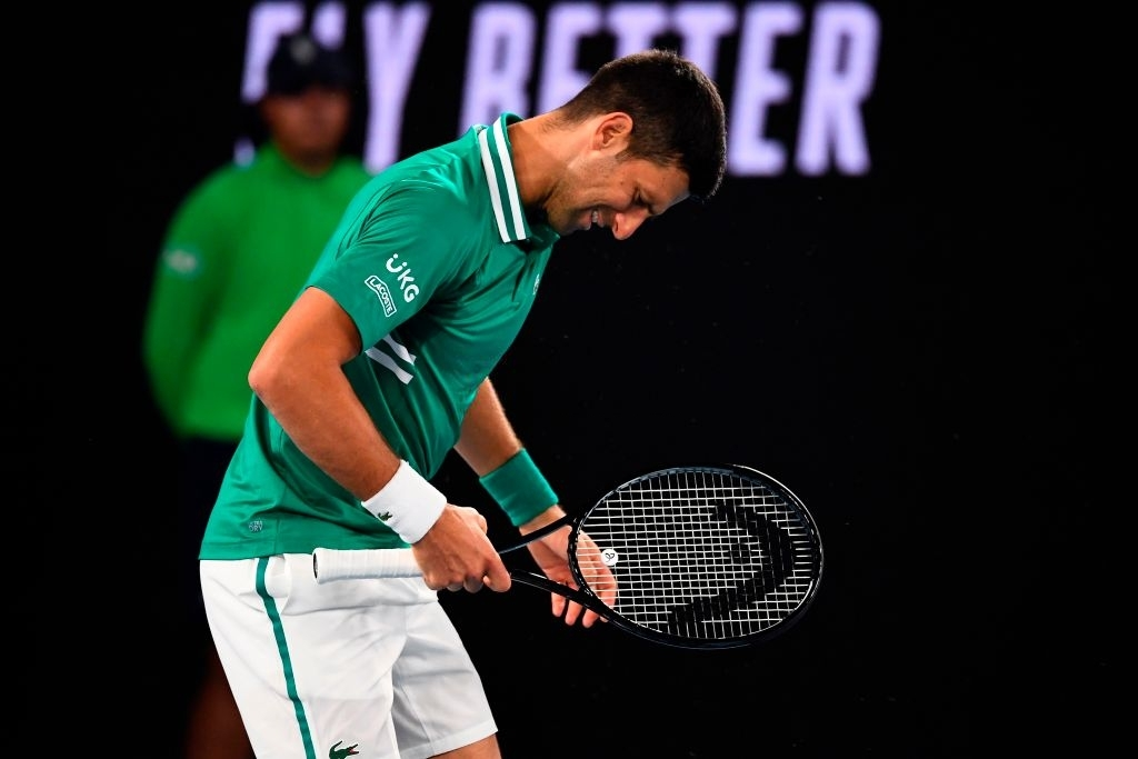 Novak Djokovic's injury while playing against Taylor Fritz in the third round of the Australian Open 2021.