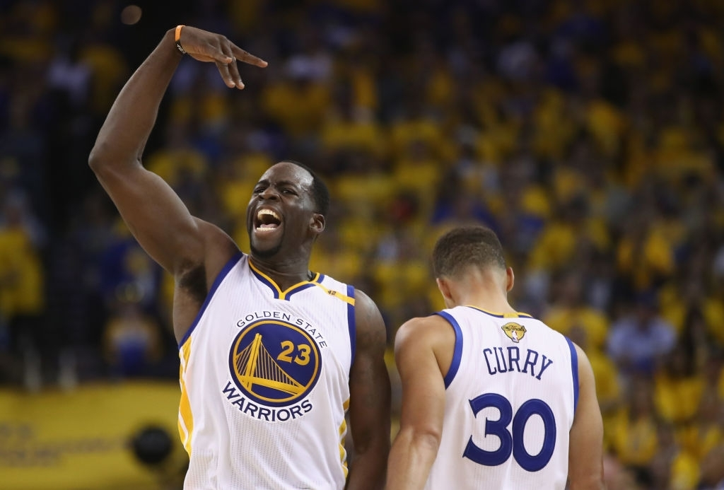 Sttephen Curry and Draymond Green