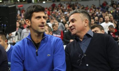 Novak Djokovic with his dad