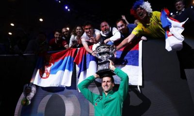 Djokovic with his fans