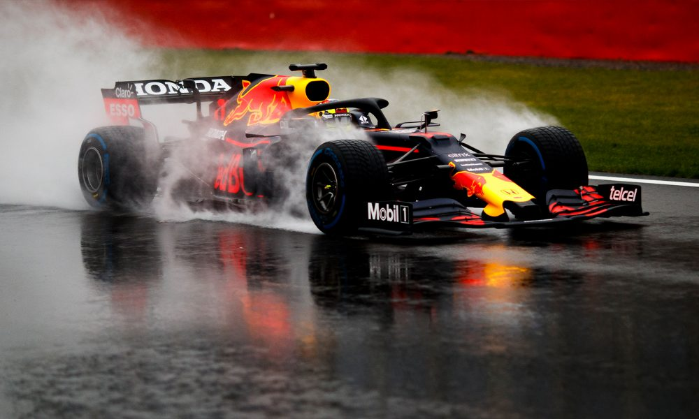 Sergio Perez testing the new Red Bull RB16B.