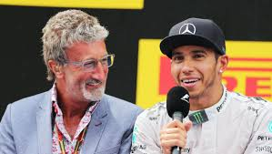Eddie Jordan and Mercedes F1 Team racer Sir Lewis Hamilton