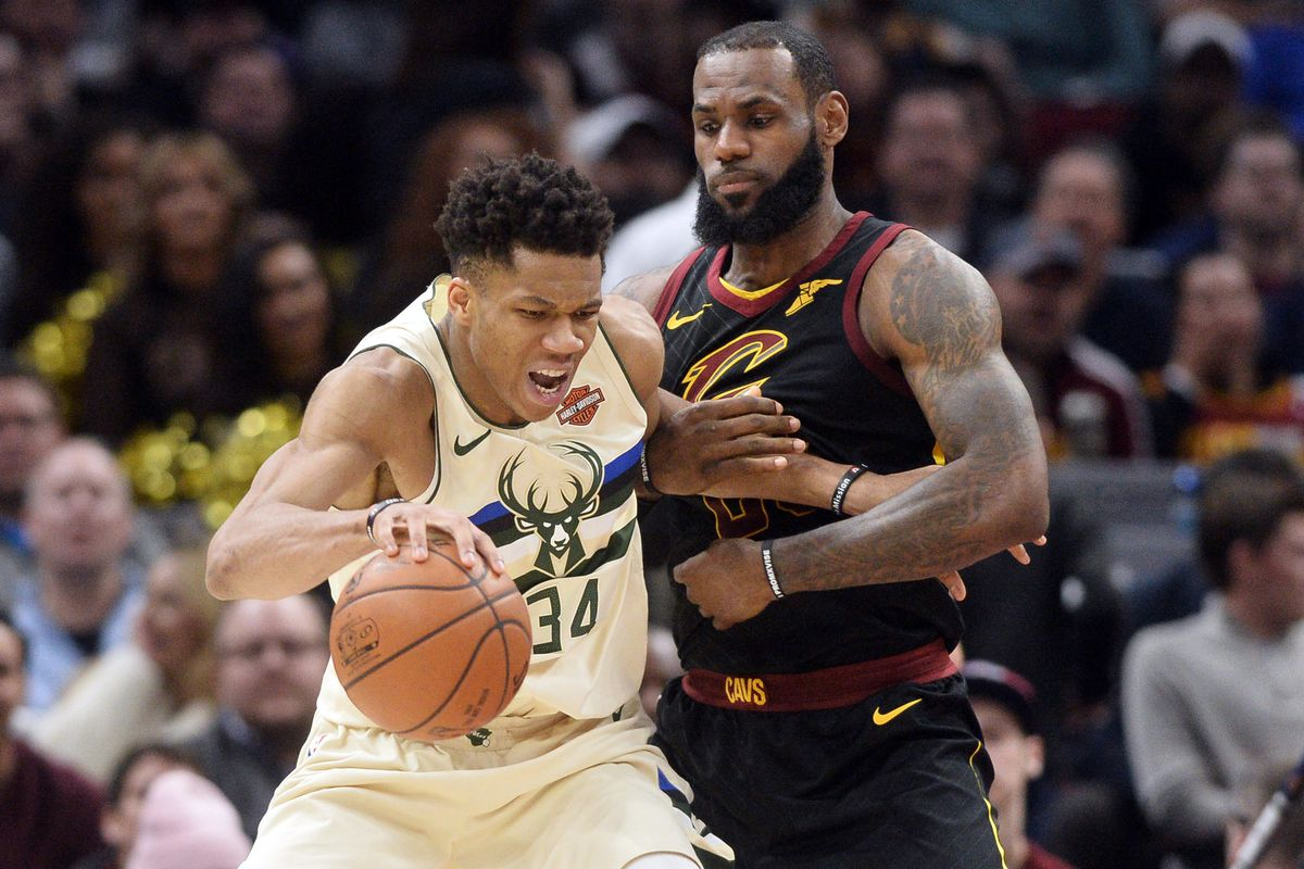 Giannis and Lebron James