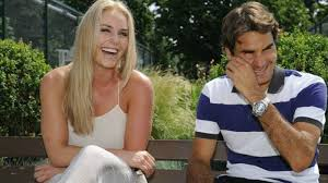 Lindsey Vonn and Roger Federer