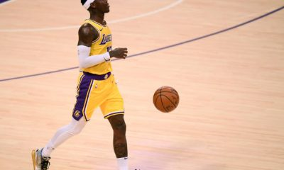 Dennis Schroder of the Los Angeles Lakers