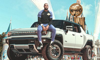 LeBron James flaunts his new vehicle
