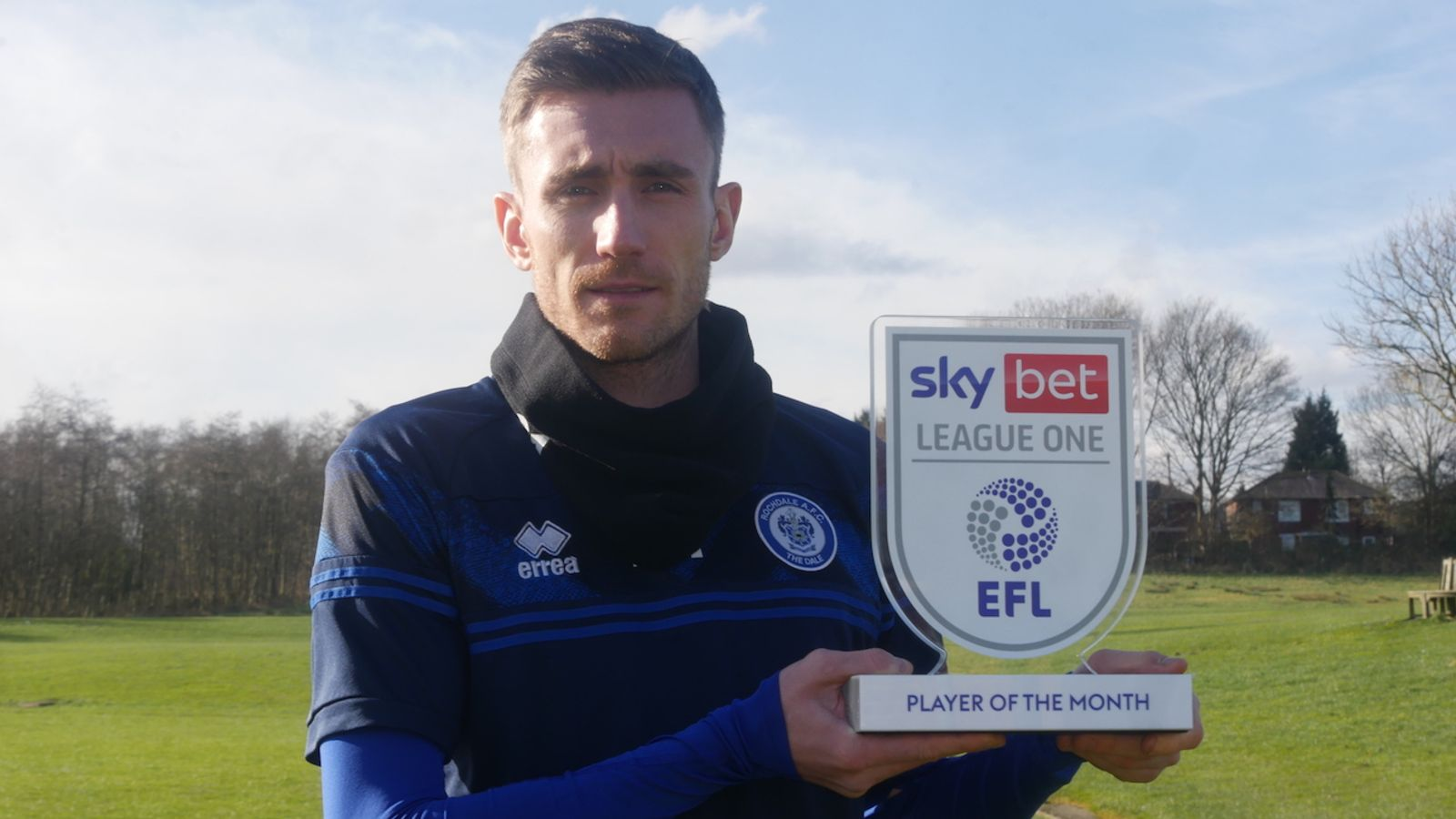 Matty Lund won the Sky Bet League One Player of the Month for January 2021.