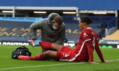 Virgil van Dijk out of Liverpool because of the injury against Everton.