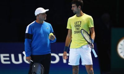 Marian Vajda and Djokovic