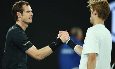 Murray against Rublev in 2017 Australian Open