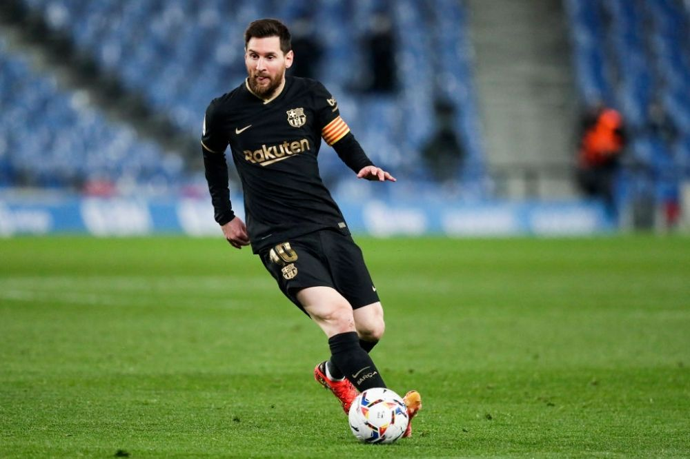 Lionel Messi in a La Liga match against Real Sociedad. (Image courtesy: Getty Images)