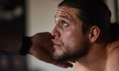 UFC featherweight Brian Ortega works out with coach James Lurhsen
