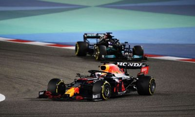 Max Verstappen took the lead from Lewis Hamilton at the Bahrain Grand Prix on March 28, 2021.
