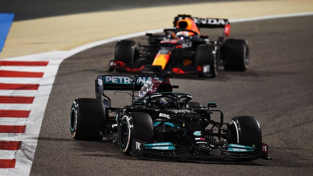 Lewis Hamilton was not letting Max Verstappen to take the lead.