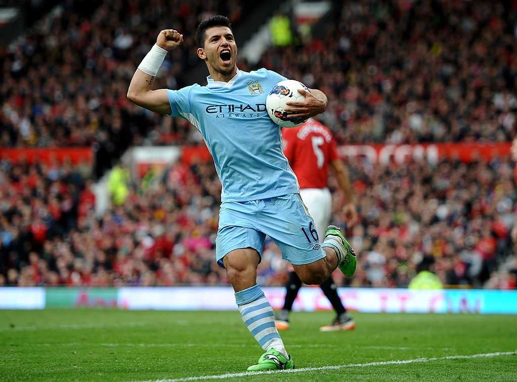 Sergio Aguero helped Manchester City to win their first Premier League title in 2011.