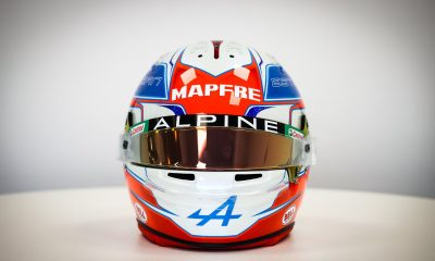 Esteban Ocon reveals his new helmet for Formula 1 2021.
