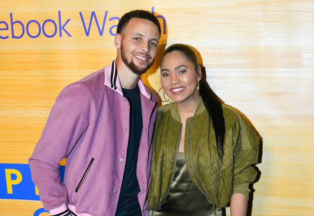 NBA Player Stephen Curry of the Golden State Warriors and Ayesha Curry