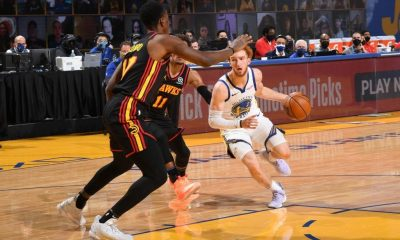 Nico Mannion of the Golden State Warriors