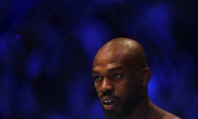 Jon Jones before his fight against Dominick Reyes in their UFC Light Heavyweight Championship bout during UFC 247