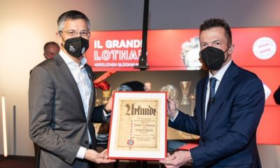 Bayern Munich awarded Lothar Matthaus for his excellent contributions