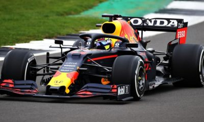 Max Verstappen took the new Red Bull RB16B for a shakedown at Silverstone.