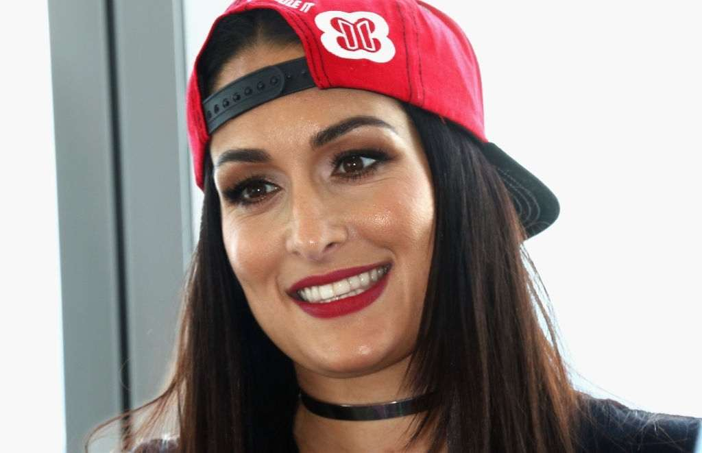 Nikki Bella attends the WWE Superstars Surprise Make-A-Wish Families at One World Observatory.