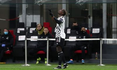 Paul Pogba after scoring the goal against AC Milan