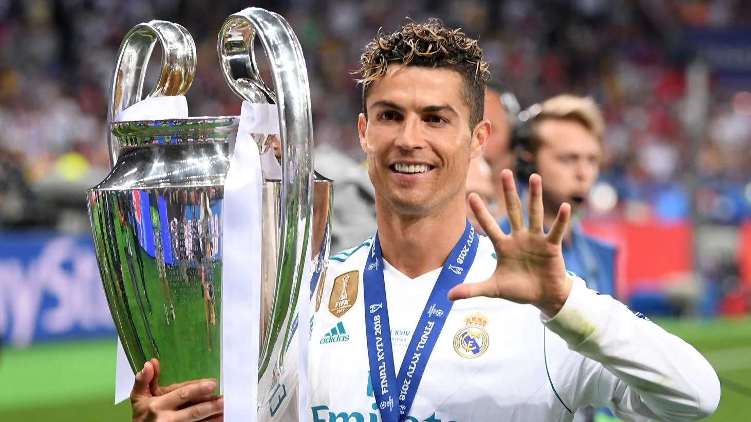 Cristiano Ronaldo won his fifth Champions League title with Real Madrid in 2018.