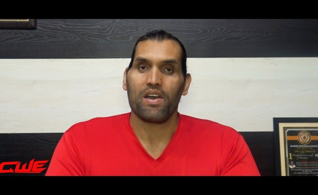The Great Khali talks about the website launch of his dream venture CWE in an Instagram post