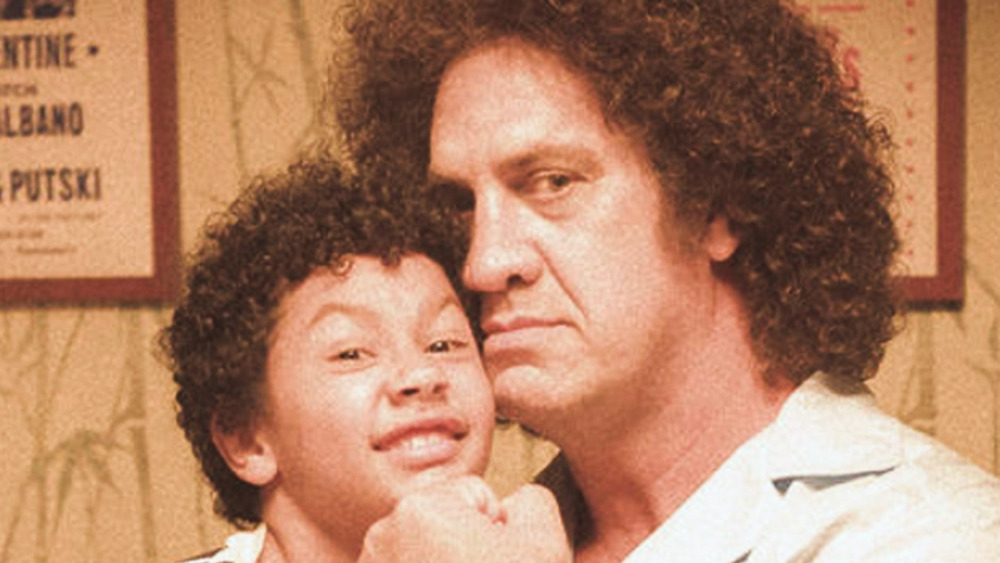 The Rock and Matthew Willig as Andre The Giant