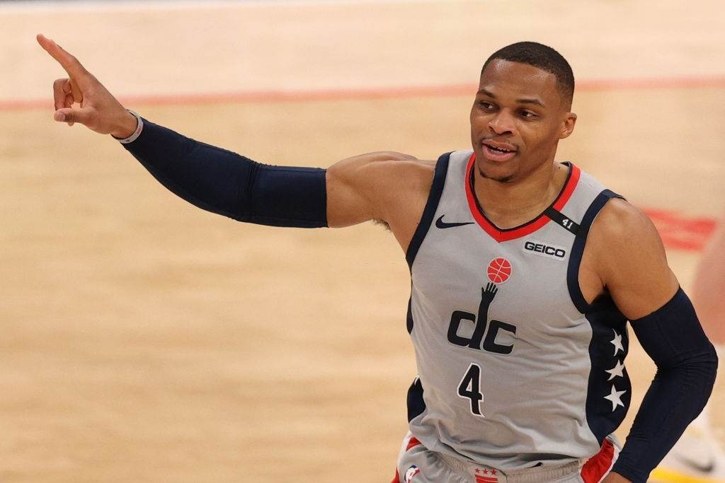 Russell Westbrook Scored 35 points for the Wizards in the victory against the Utah Jazz
