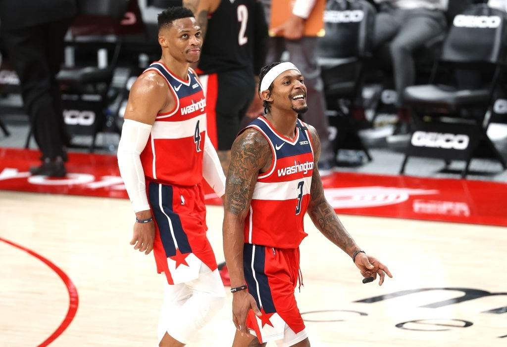 Russell Westbrook and Bradley Beal performed exceptionally well for the Wizards