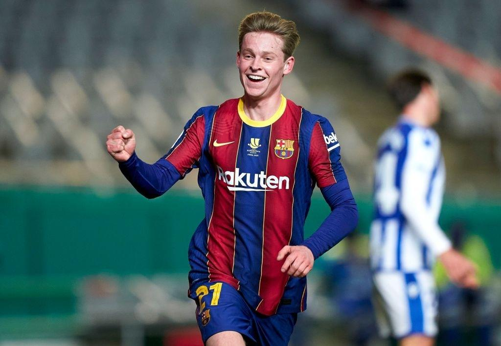 Frenkie De Jong of FC Barcelona celebrates (Photo by Quality Sport Images/Getty Images)