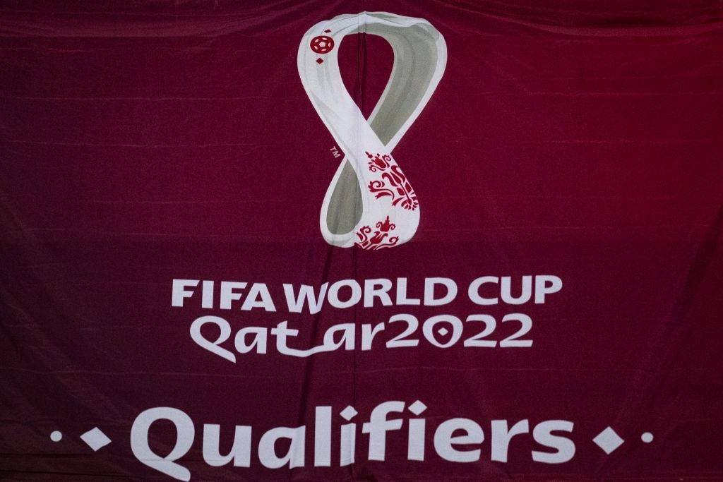 FIFA World Cup 2022 Qatar logotype (Photo by David Lidstrom/Getty Images)