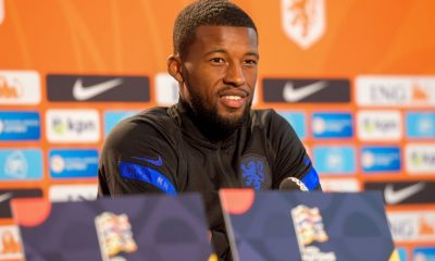 Georginio Wijnaldum rejoices having fans in Johan Cruyff Arena