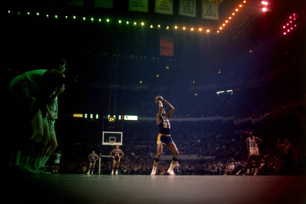 Elgin Baylor of the Los Angeles Lakers