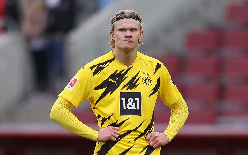 Erling Haaland of Dortmund (Photo by Lars Baron/Getty Images)