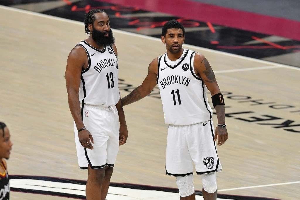 James Harden and Kyrie Irving