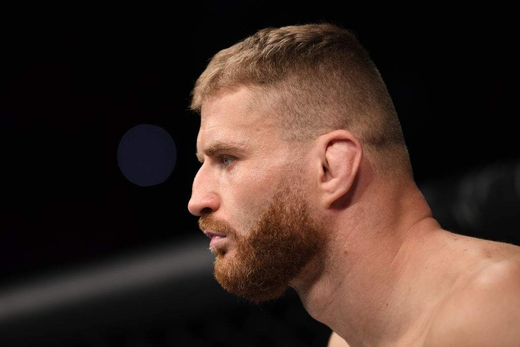 Jan Blachowicz of Poland stands in his corner prior to his light heavyweight bout against Corey Anderson during the UFC Fight Night event