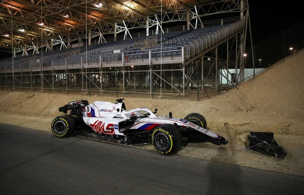 Nikita Mazepin crashed out at Bahrain Grand Prix