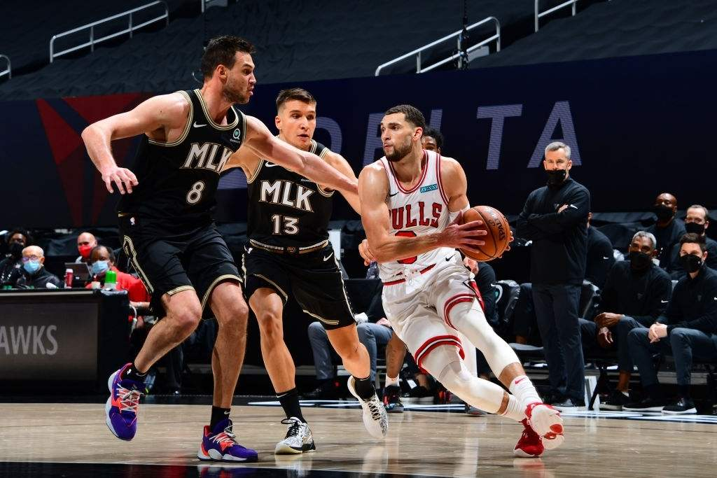 Trae Young and Zach LaVine