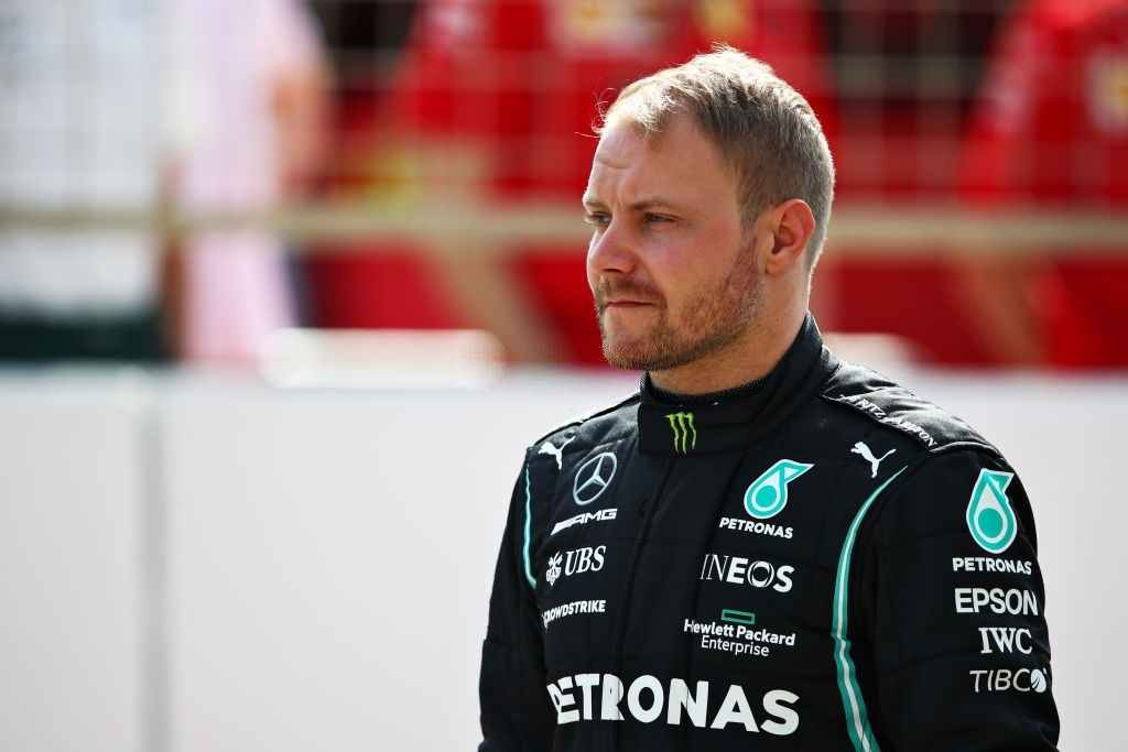 Valtteri Bottas of Mercedes AMG F1 takes the lead in the FP1 at the Portugal Grand Prix on Friday, April 30, 2021.