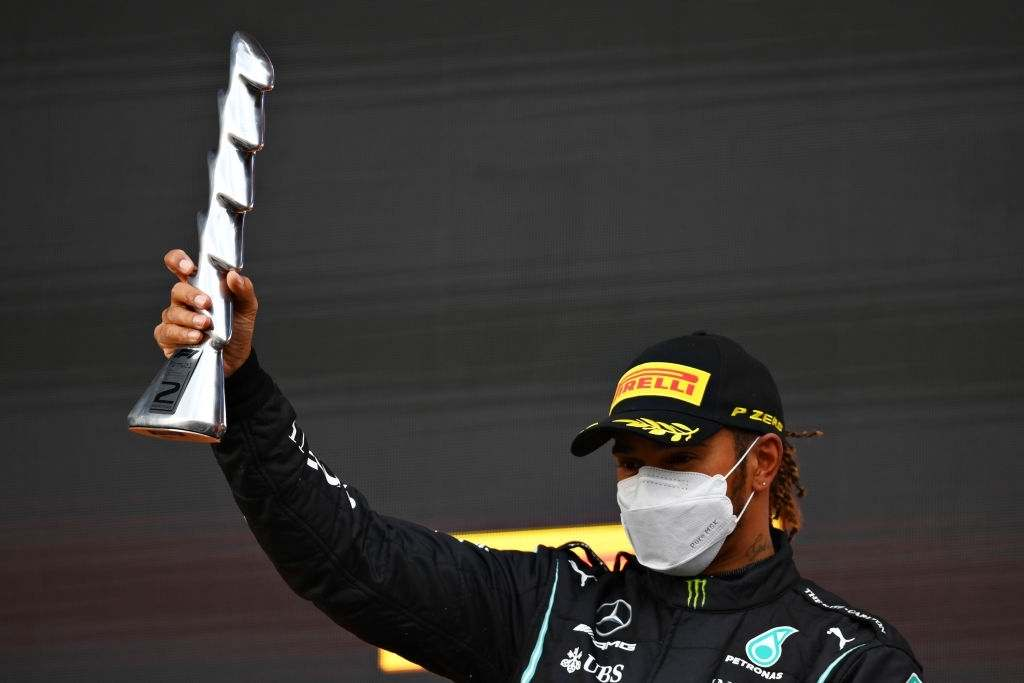 Lewis Hamilton make a heroic comebackfrom P8 to finishing at P2 in the Emilia Romagna Grand Prix.