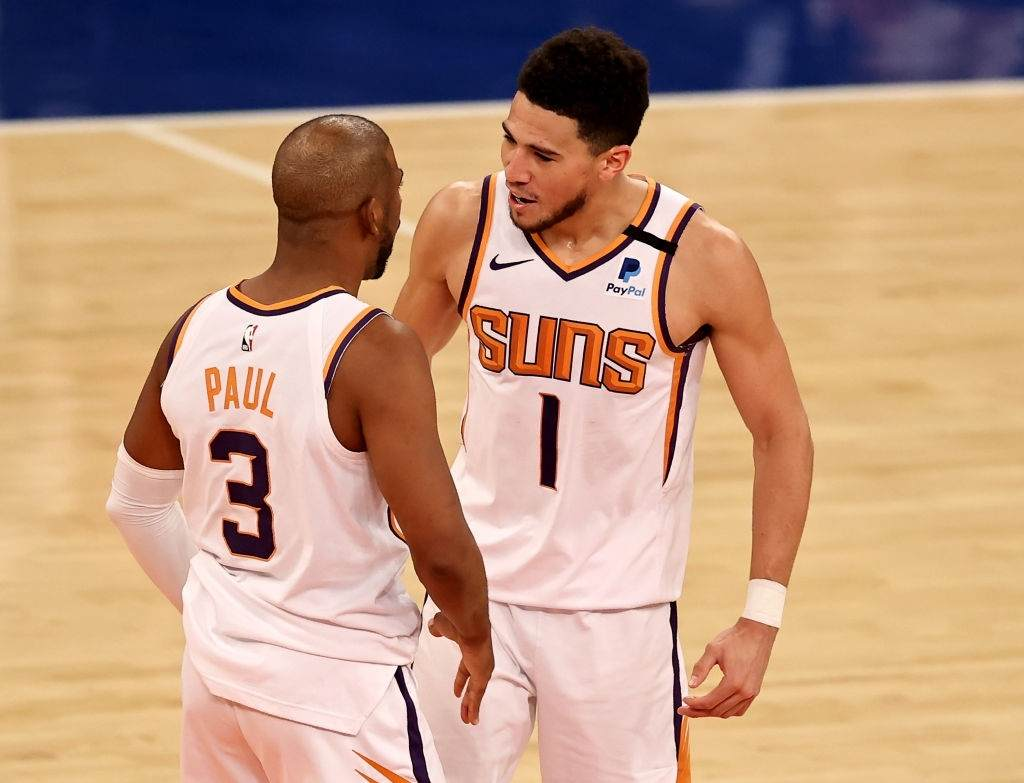 Chris Paul and Devin Booker
