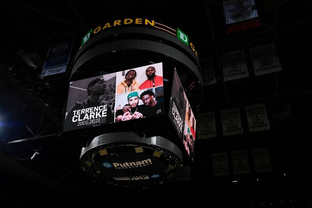 Terrence Clarke was honored by the Boston Celtics on Tuesday night.