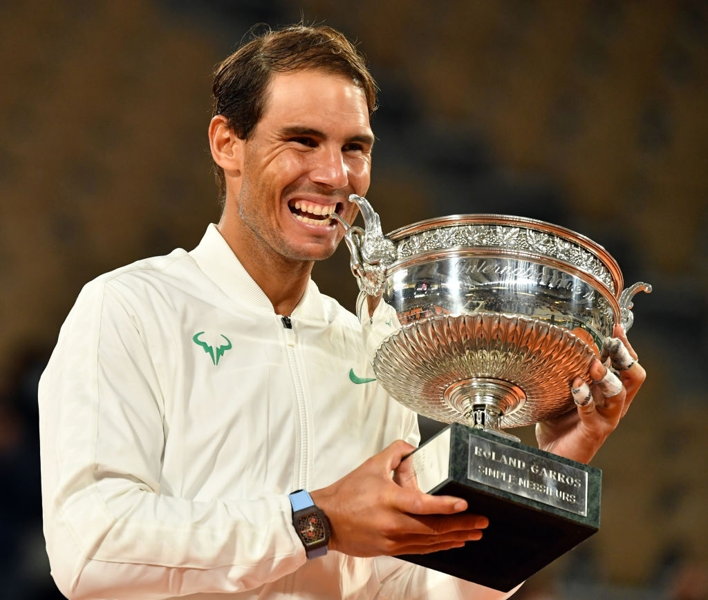 Rafael Nadal winning his 13th French Open title