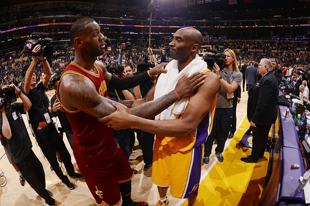 Kobe Bryant (R) and LeBron James (L)
