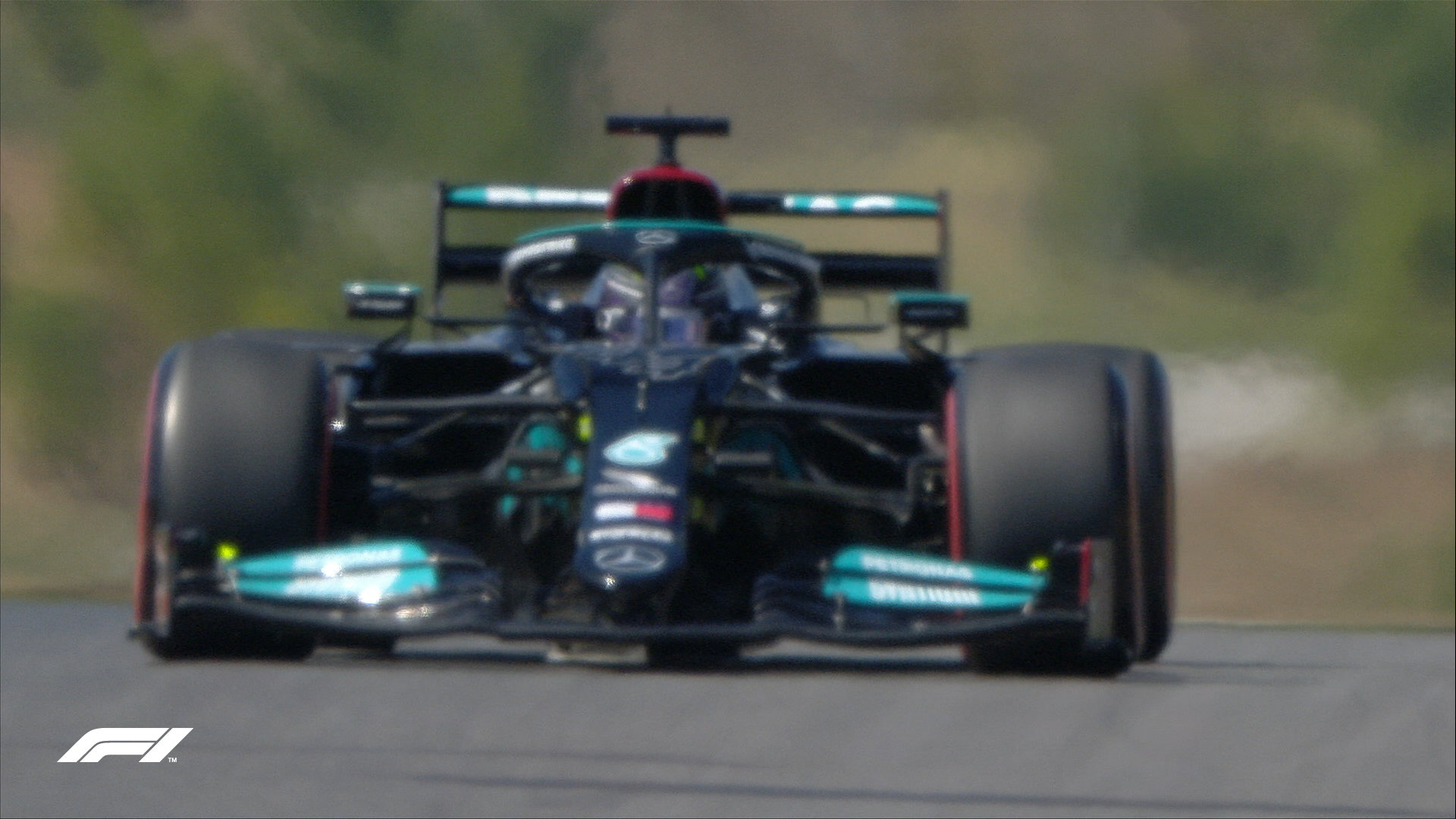 Lewis Hamilton of Mercedes AMG F1 driving in the FP1 of the Portuguese Grand Prix on Friday, April 30, 2021.
